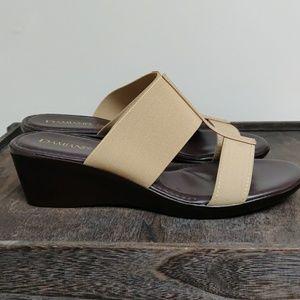 Damiani Shoes - Italian Womens Natural Wedge Sandal